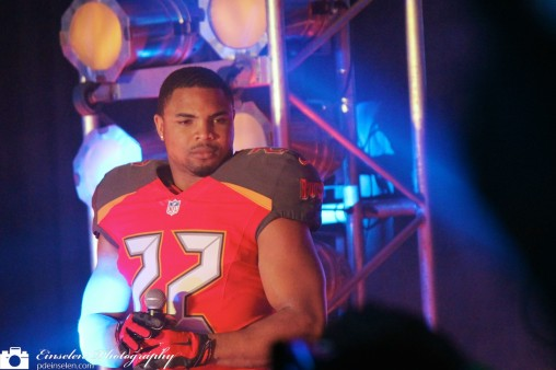 Doug Martin, Running Back, in Tampa Bay Buccaneers New Uniform
