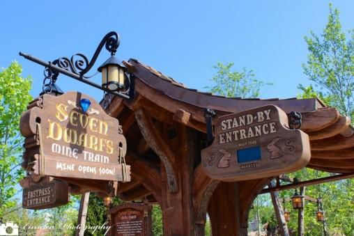 Seven Dwarfs Mine Train Entrance at Disney's Magic Kingdom