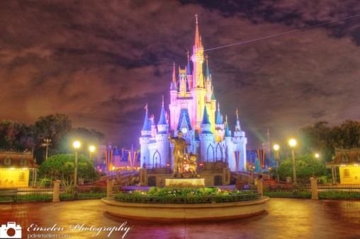 Cinderella Castle and Partner Statue in HDR