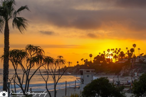 Laguna Beach Sunset Retouched